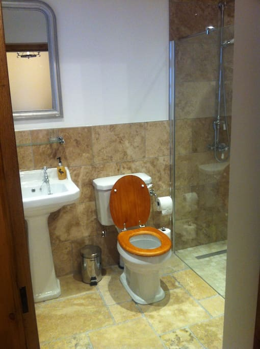 Ensuite Wet room with Waterfall walk in Shower