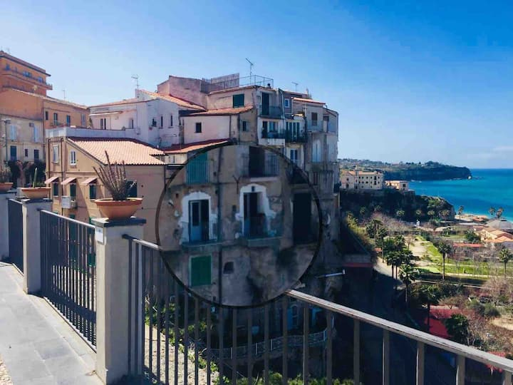 Romantic apartment with sea vieuw