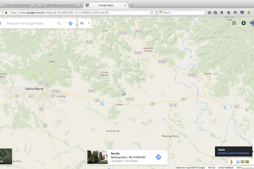 Localização a 25km de Santa Maria - Aeroporto Base Aérea