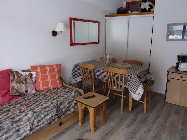 Bel appartement pied des pistes - Saint-François-Longchamp - Huoneisto