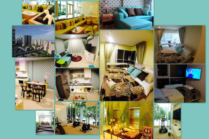 Cool 2-BigBedRoom / 5minWalk to Rama9 MRT / APLink - Bangkok - Byt