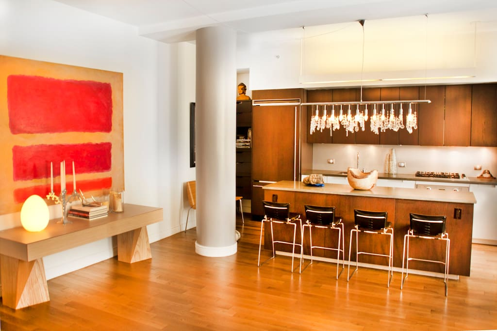 Loft space with original art from Andy Warhol to contemporary New York painters