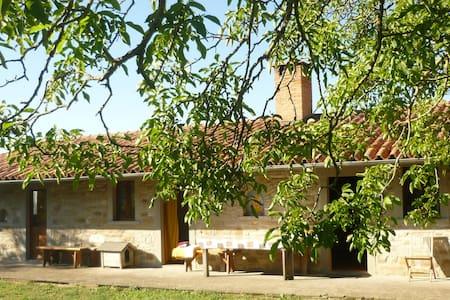 Casa in pietra nel verde e  fiori - Pietralunga