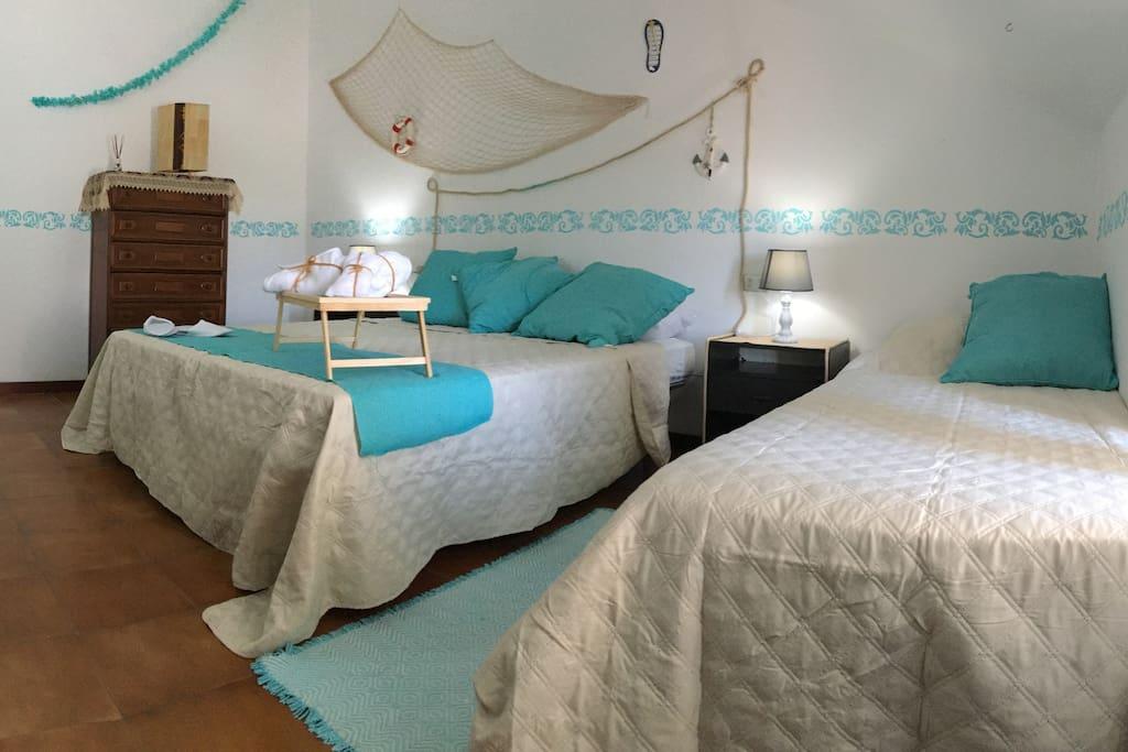 Camera matrimoniale con aggiunta letto singolo