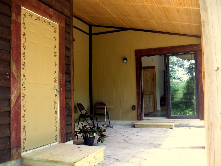 Looking at studio entrance from the patio