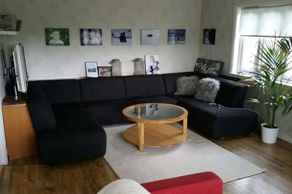 Ample and comfy living room