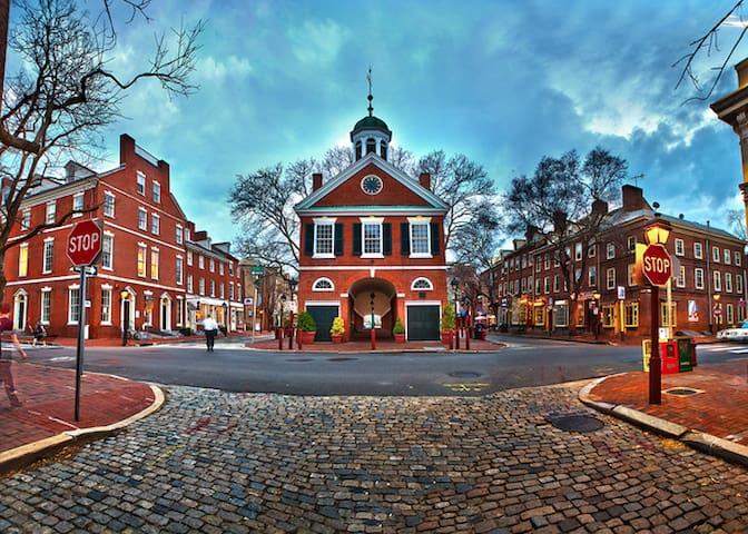 Queen Village House w/2-Car Parking - Philadelphia - Huis