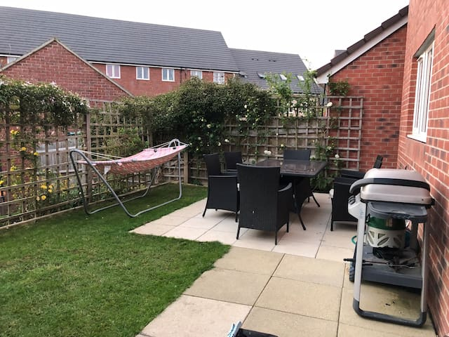 Top patio with gas BBQ
