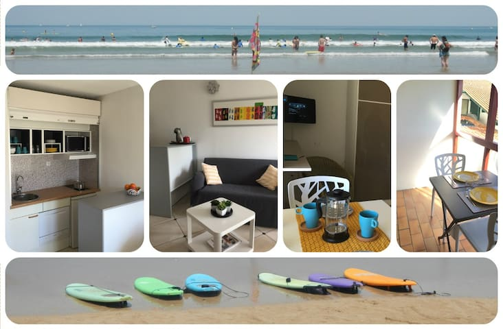 Recently renovated studio by the beach
