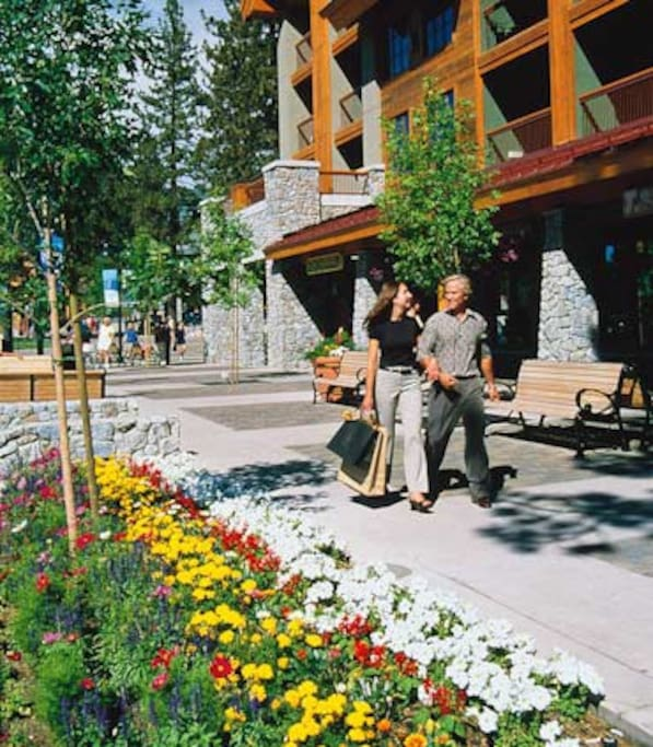 Shop just outside your condo and enjoy Lake Tahoe
