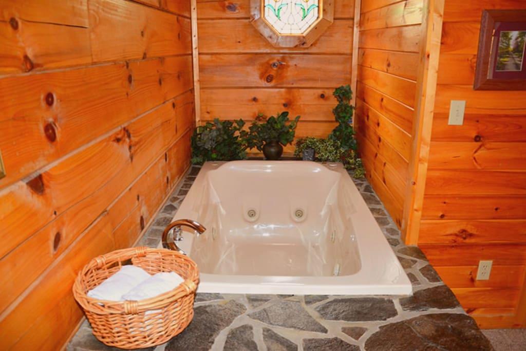 Whirlpool Bath in Master Bedroom