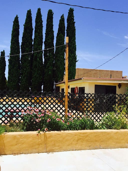 A view of the Casita from the patio