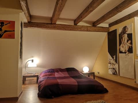 Chambre double dans maison au Neudorf/Musau