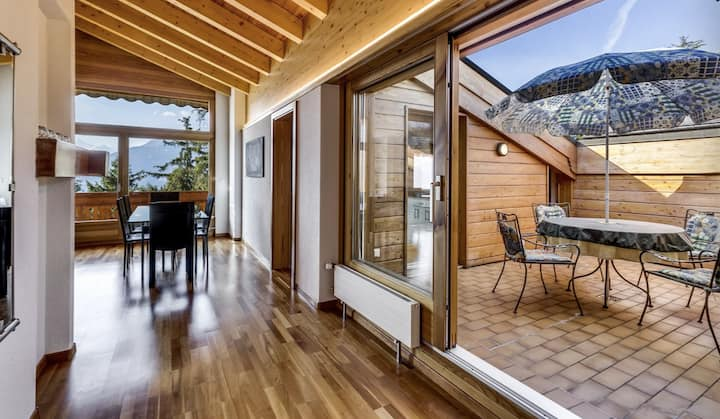 Crans-Montana Penthouse with Stunning Views