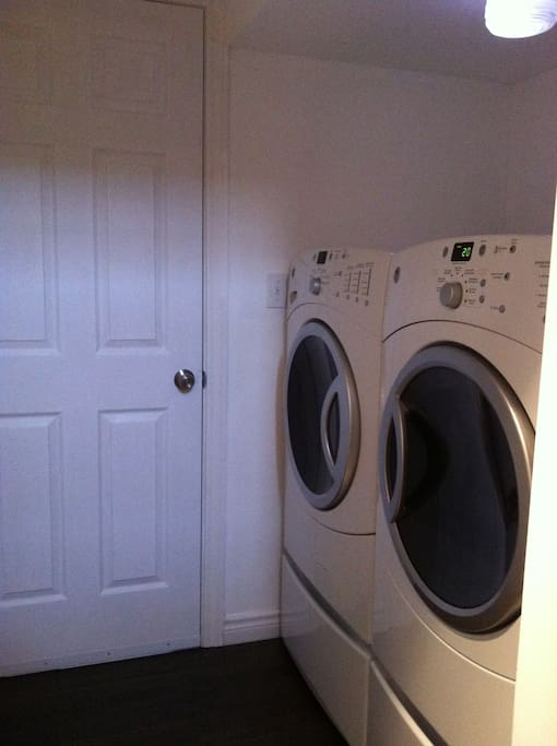 Shared washer/dryer for your use