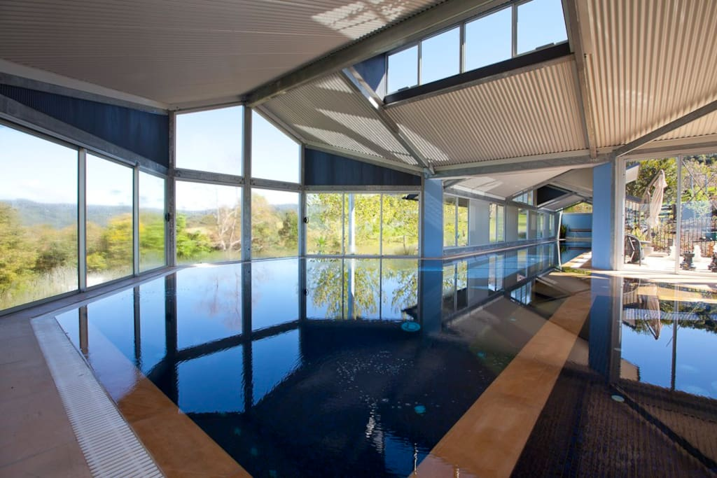 33m Heated Pool & Spa during the day