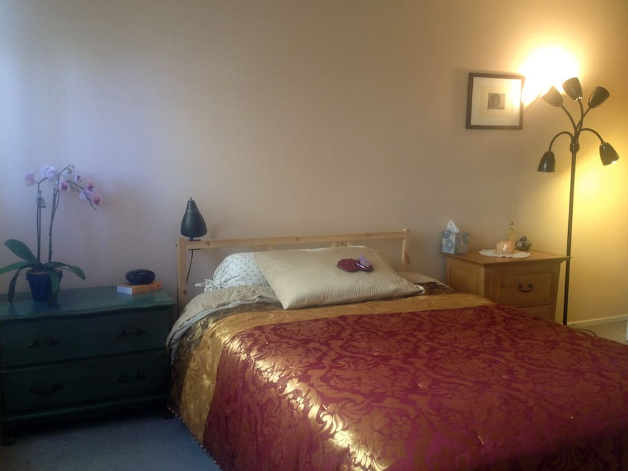 Large one bedroom is situated at the back, separated from the common areas, hence offering complete privacy!