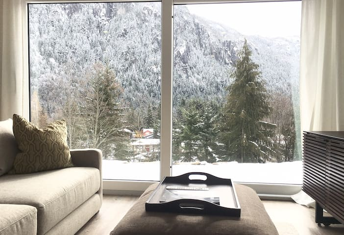 MODERN NEW BUILD - MOUNTAIN VIEW PRIVATE SUITE - Squamish - Huis