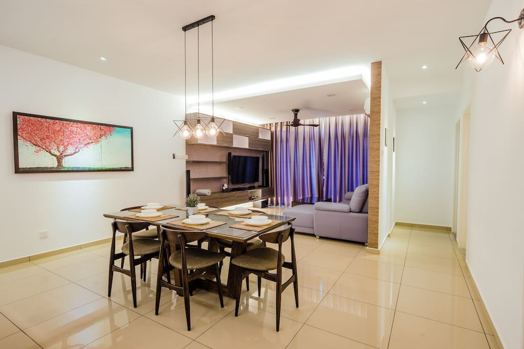 Spacious dining and living space