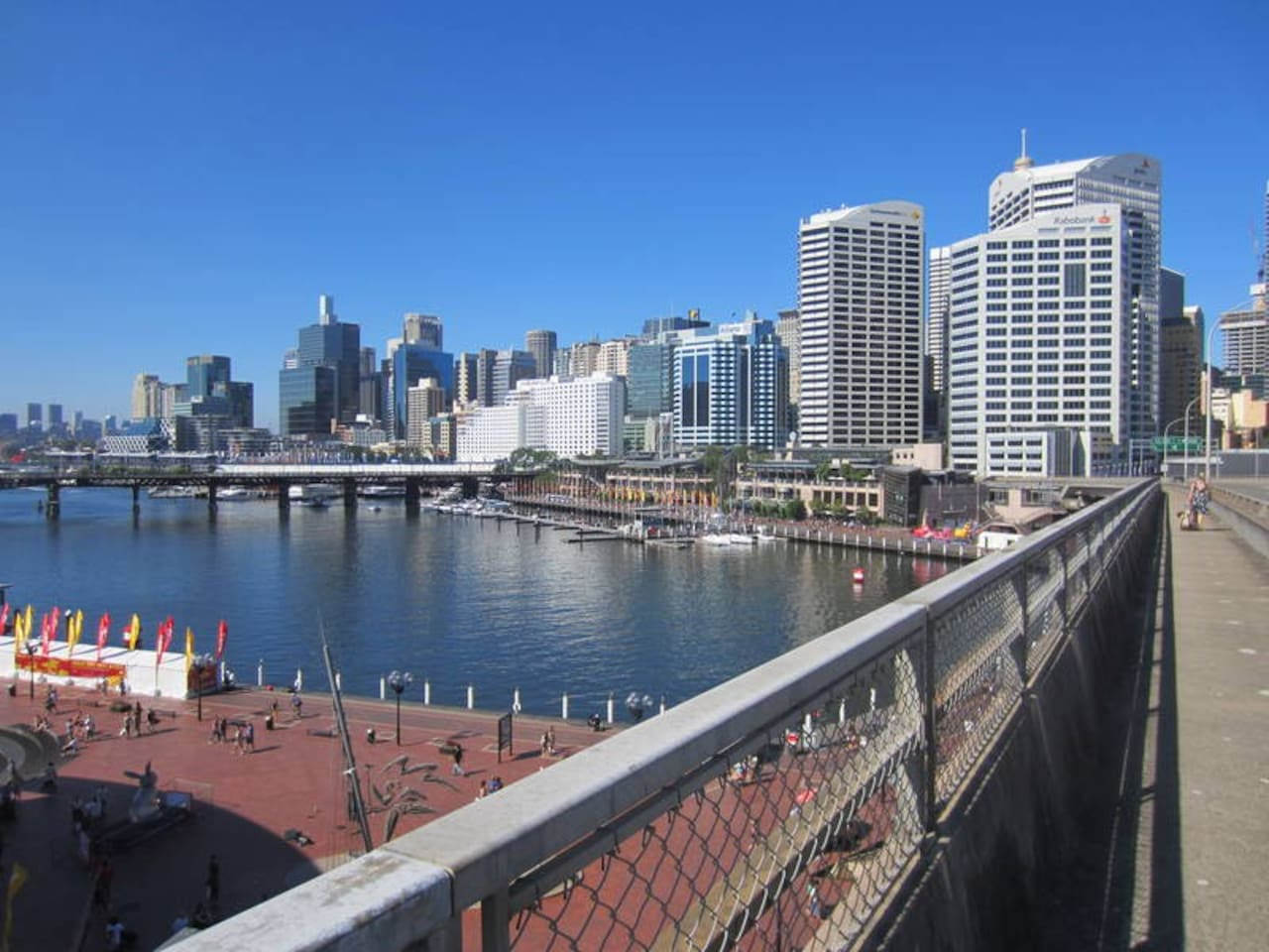 The 12-minute walk from the apartment to the city