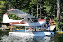 You  can rent a seaplane and they can come right to our dock to take the whole crew for  a ride