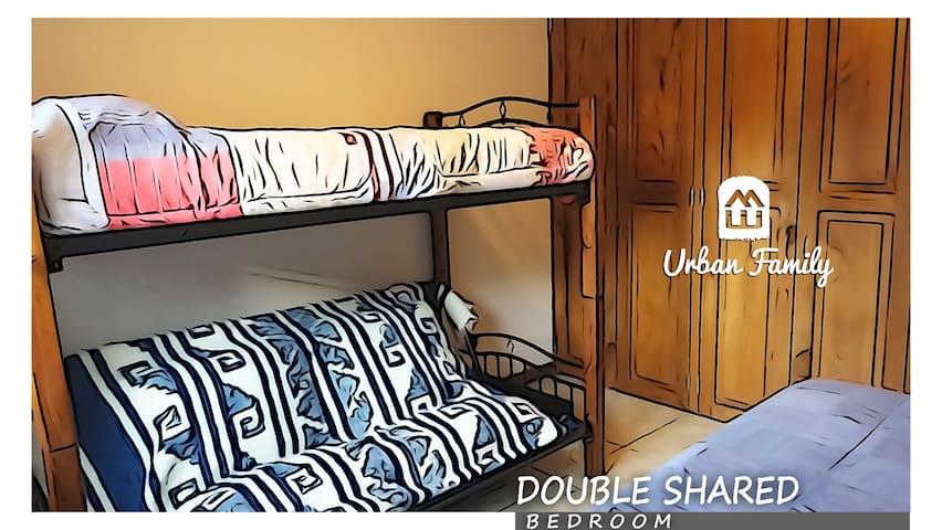 SHARED BEDROOM (FUTON BUNK)