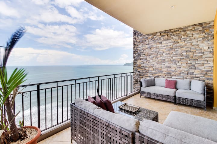 Tranquil oceanfront escape with sweeping views, pools, and fitness center