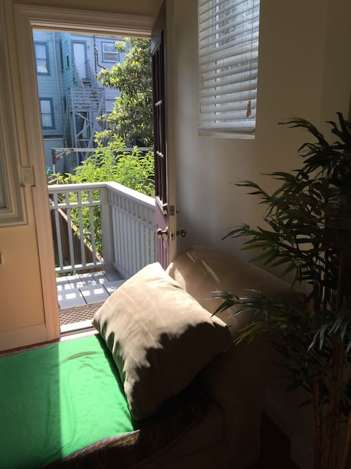 Easy back door yard access