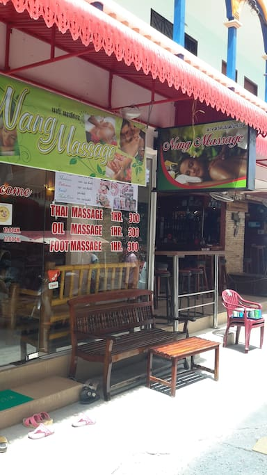 Nang Massage next door Boots & Saddle Bar. Upstairs Apts. Behind are the Bungalows