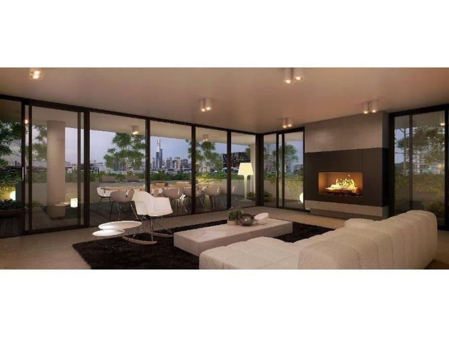 Communal lounge and