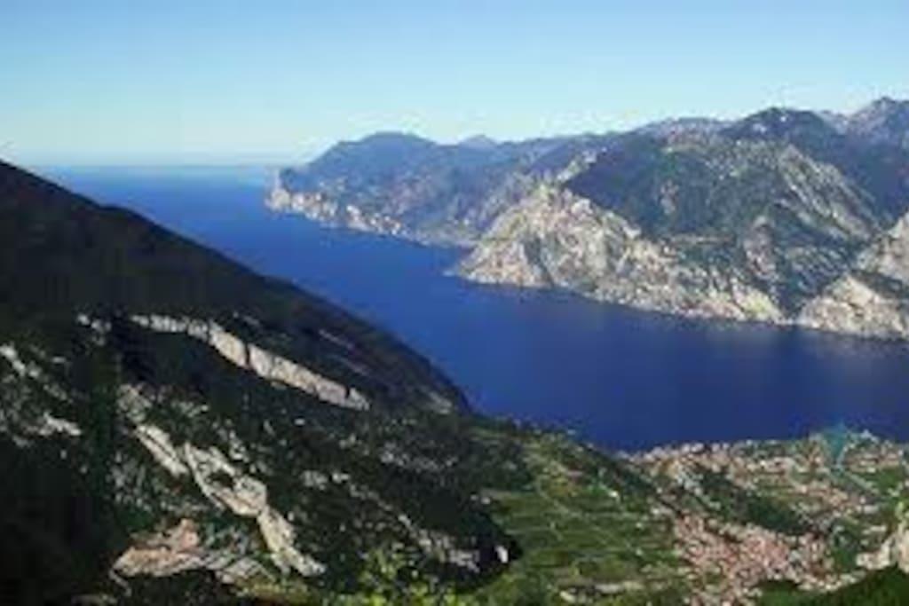The Garda lake  seen from the Gresta valley.