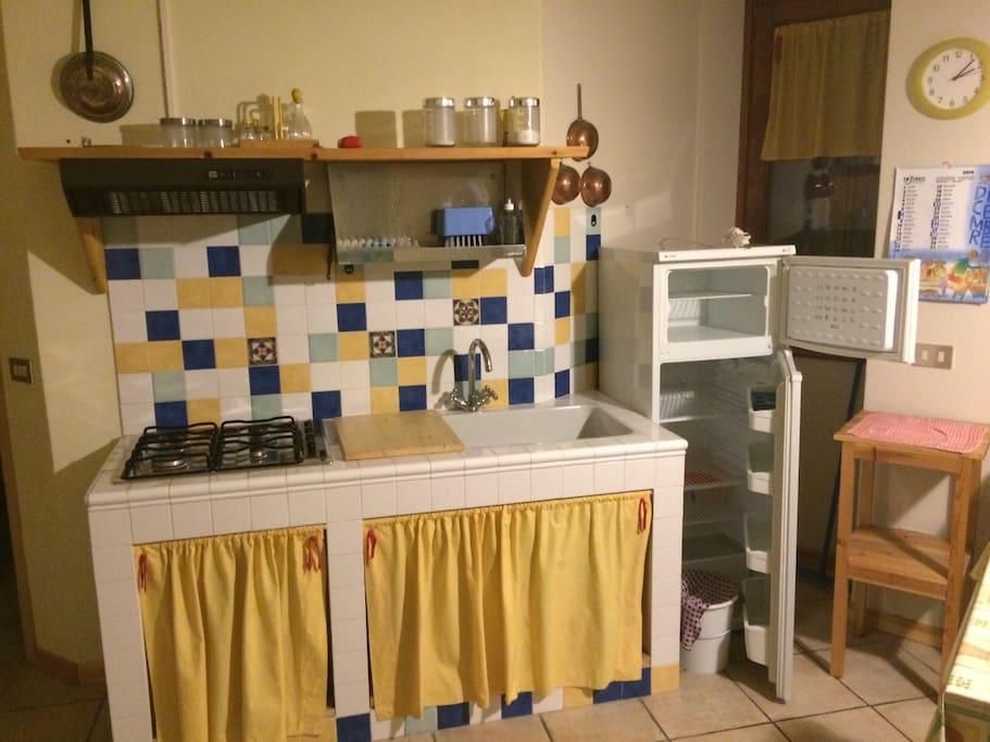 Cucina in muraura