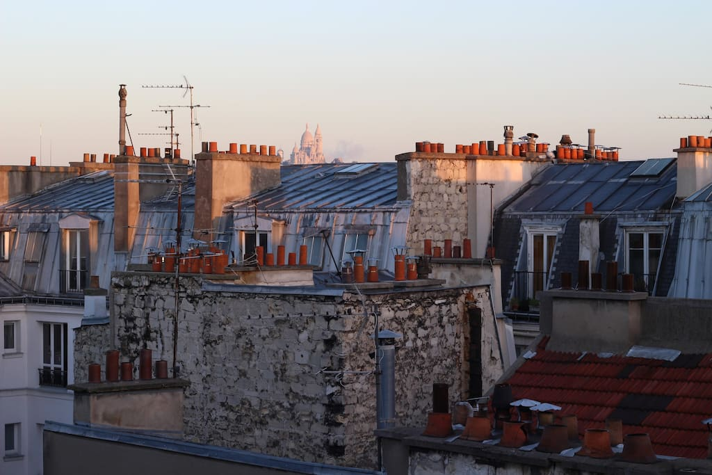 View of Montmartre from terrace