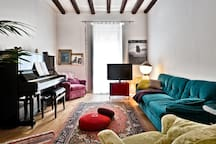 my piano and sofas!