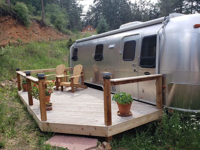 Airstream in the foothills
