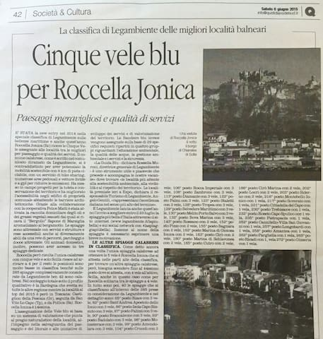 NEW YORK TIMES ELECTS CALABRIA REGION HOW TO VISIT - Roccella Ionica - Villa