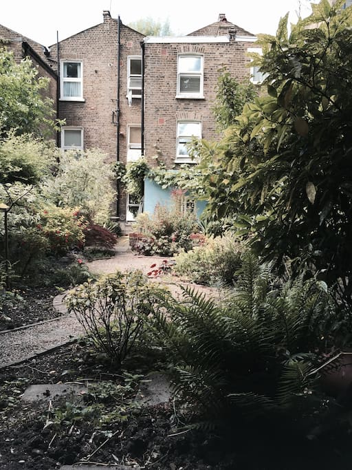 garden with view to back of house.