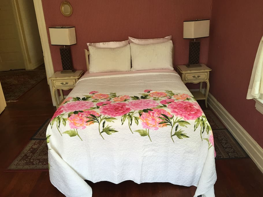 A front view of the bed
