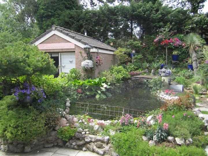 Romantic gardenhouse in beautiful garden Zandvoort