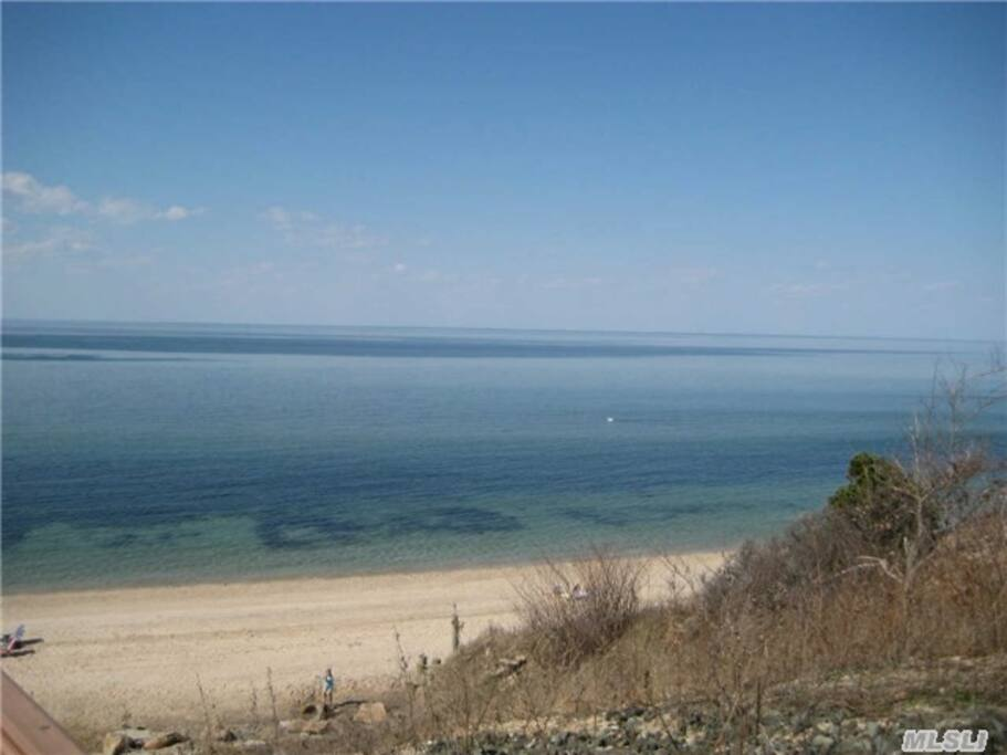 Less than a five minute walk to private beach