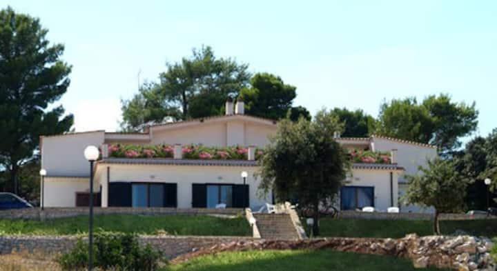 bilocale 2 posti  villa vista mare