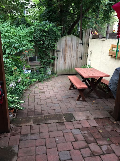 Spacious patio, perfect for relaxing, morning meditation and picnics.