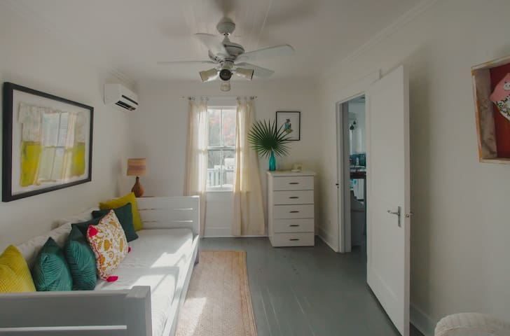 Downstairs sunny, single bedroom - pack n' play available for your little one.