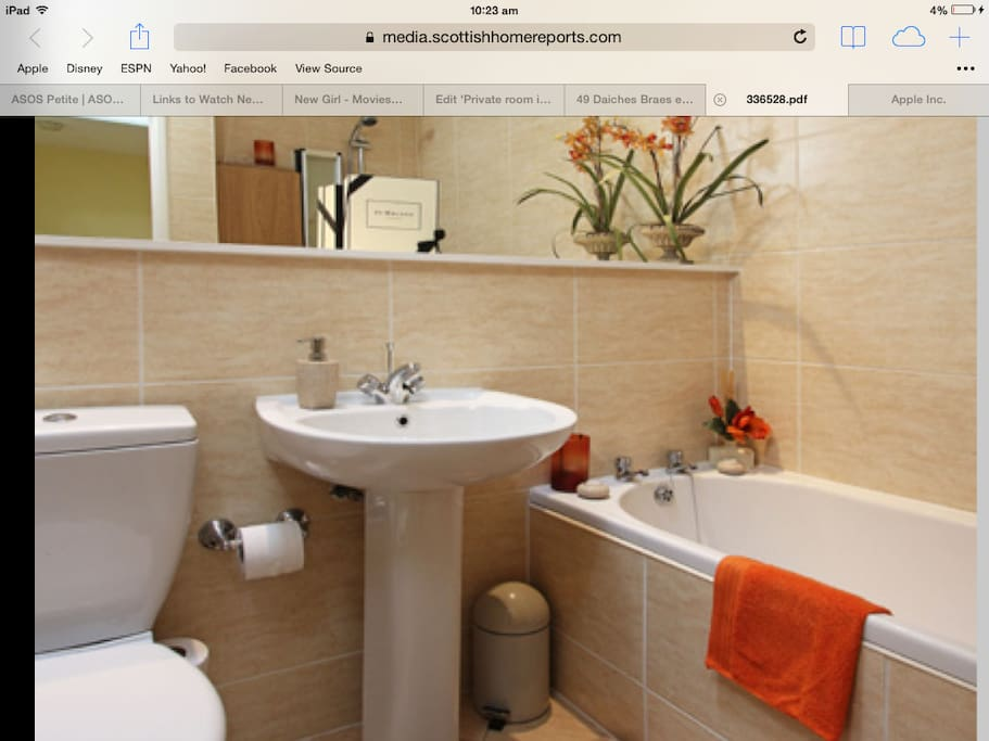 Bathroom - yours for your own private use during your stay.