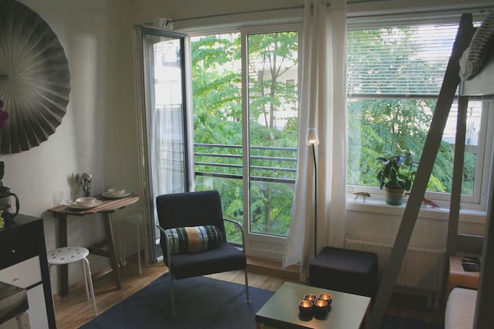 Modern studio in downtown Oslo