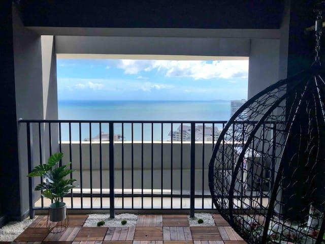 汕尾保利金町湾旅游民宿高层海景房大阳台 近海滩