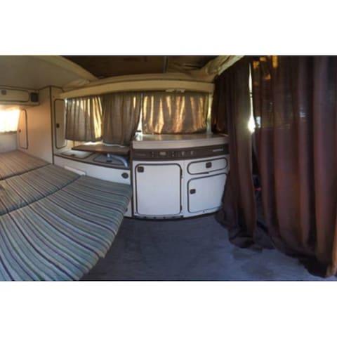 Experience Vanlife inside a Volkswagen Bus (Sandy)