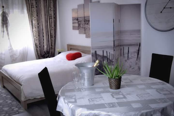 Nathacia Jacuzzi Spa De Nage Hammam Sauna Massage Bed And