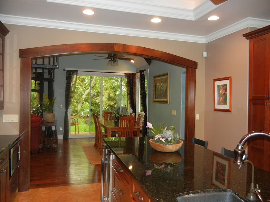Open floor plan. Top of the line lighting through out