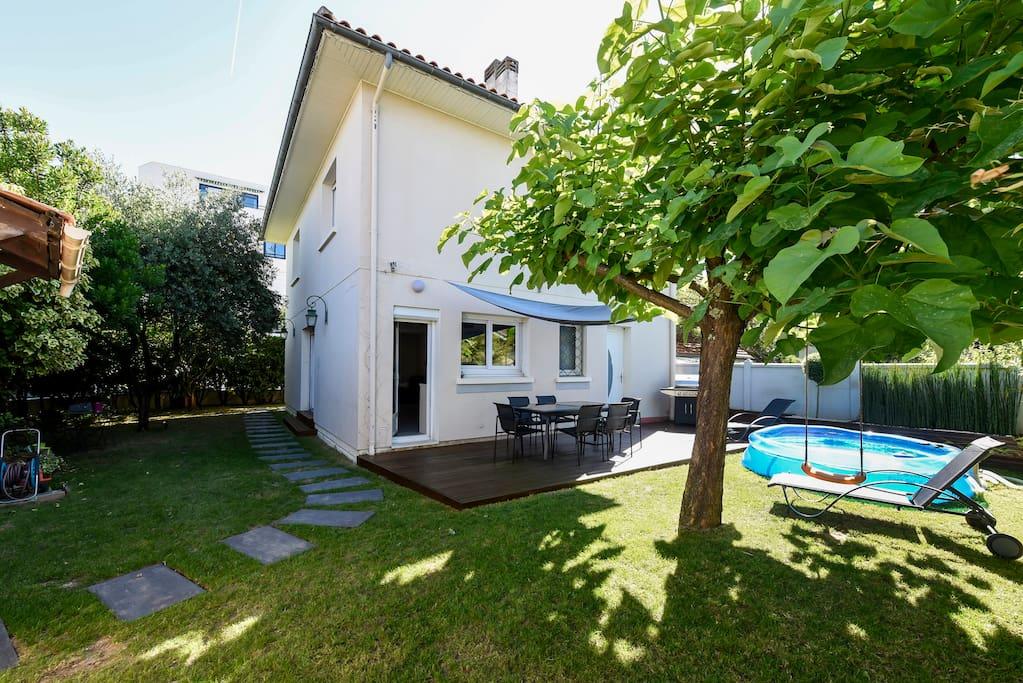 Maison de ville 3 ch joli jardin maisons louer bordeaux aquitaine france - Maison de ville bordeaux ...